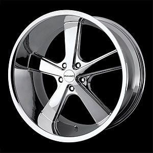 American Racing 70189012224 Nova Series 701 Chrome Wheel