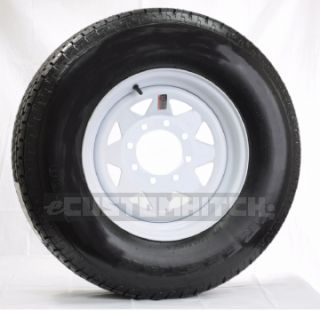 Trailer Rim Wheel 16 16x6 8 Hole Bolt Lug White Spoke Rim Only