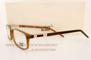 Brand New Mont Blanc Eyeglasses Frames 297 56A Brown for Men