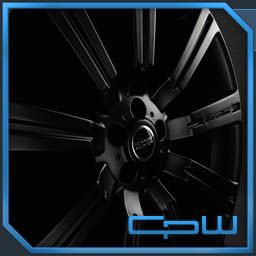 24 inch Land Rover Wheels Rims Matte Black Stormer Range Rover Sport