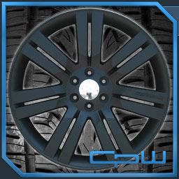 NEW CHEVY SUBURBAN 24 WHEEL & TIRE PACKAGE FLAT BLACK TAHOE AVALANCHE
