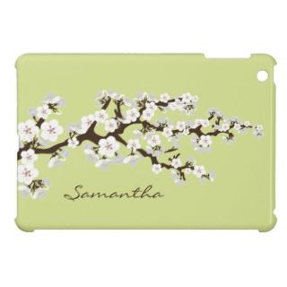 Cherry Blossoms Sakura iPad Mini Case (lime)