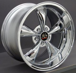 10 Chrome Bullitt Style Wheels Nexen Tires Rims Fit Mustang® 94   04