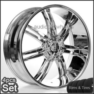 24inch Wheels and Tires Chevy Escalade Tahoe QX56 Rims