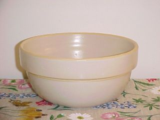 Vintage Stoneware Mixing Bowl USA Yellow Ware
