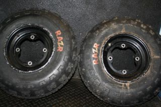 Raptor YFZ450 Banshee Front Stock Wheels Rims Tires