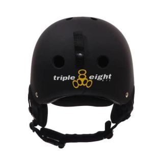 Medium Triple Eight Snow Helmet w Audio Matte Black Snowboards Skiing