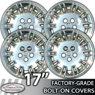 2005 2007 Chrysler 300 17 Chrome Bolt on Hubcaps Wheel Covers