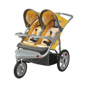 Instep Grand Safari Swivel Wheel Double Jogging Stroller Baby Jogger