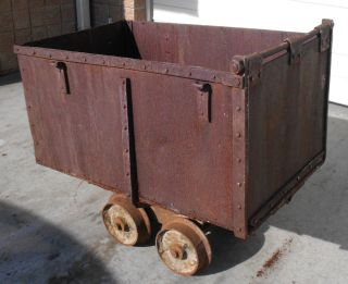 Antique Mining Ore Car Cart Downie Wright Mfg Co Rapid City South