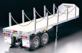 Tamiya 56306 1 14 Flatbed Semi Trailer for RC Tractor Truck New in Box