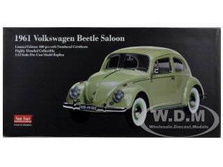 1961 Volkswagen Beetle Saloon Beryl Green 1 12 Diecast Model Car by