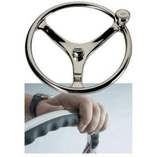 Edson 13 Marine SS Comfort Powerknob Steering Wheel