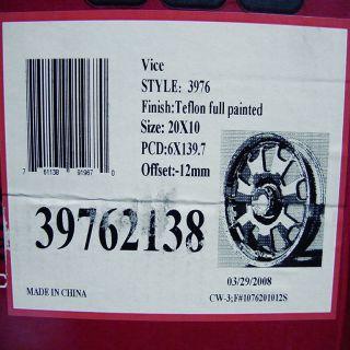 American Racing ATX Vice 6x5 5 Black Teflon Wheels Rims New