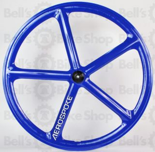 Aerospoke Track Rear Wheel Blue Fixed Gear 700c New