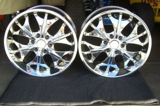 20 inch Chrome DIAMO 15 Karat Wheels Rims 6x135 Ford