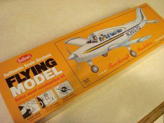 Guillows Beechcraft Musketeer Flying Model Airplane Kit SEALED