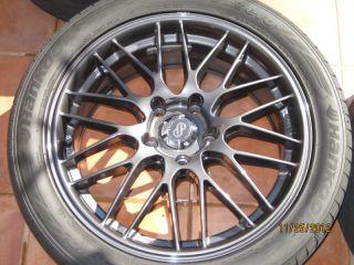 17 Enkei EKM3 Gunmetal Wheels Rims and Tires Hankook L K Spare