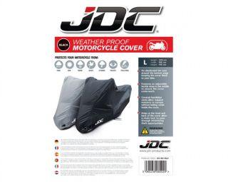 JDC Motorcycle motorbike 100 Waterproof Cover Black