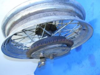 Triumph rear hub and brake with chopper wheel H/D custom, chopper