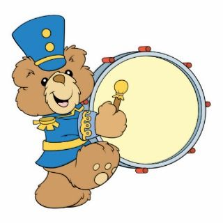 Marching Band Drummer Bear Photo Cutout