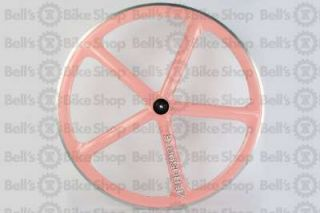 Aerospoke Track Front Wheel Pink Non Machined Bolt on 700c