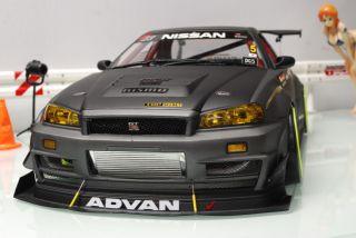 Nissan Skyline R34 Custom Painted Body Shell 1 10 Tamiya TT01VDF HPI