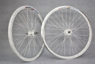 Weinmann Deep V DP18 Track Wheelset Solid White Front Machined Wheels