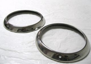 Chevy GMC Car & Pickup Truck Stainless Steel Headlight Rim Ring Kit SS
