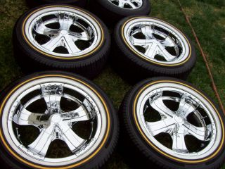 20 Verde Chrome Wheels Vogue Tires Cadillac Escalade Chevy Tahoe