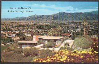 Steve McQueens Home Rimcrest Palm Springs CA Postcard 1960s