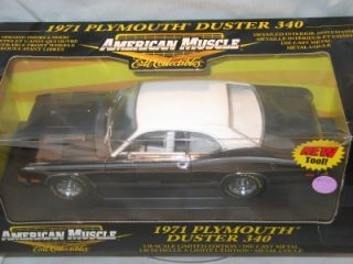 18 1971 Plymouth Duster 340 Chase Car Blk Chrome American Muscle