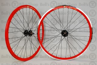 Weinmann DP18 Deep V Track Wheels Red Fixed Gear