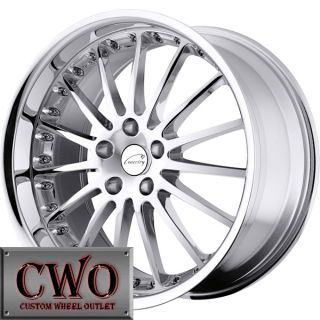 18 Chrome Ceventry Whitley Wheels Rim 5x108 5 Lug Jaguar Volvo Lincoln