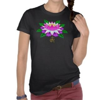 Lotus Flower with Tibet Om (Aum) Symbol Shirts
