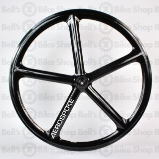 Aerospoke Track Rear Wheel Black Non Machined Fixed
