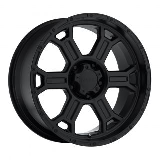 17 x9 inch V Tec Raptor Black Wheels Rims 6x135 F150