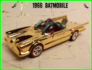 Custom Hot Wheels 1966 Batmobile  Gold  Finish Redline TV Series