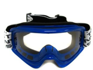 Youth Blue Off Road Goggles Motocross Dirt Bike ATV MX