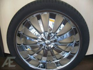 24 Chrome Rims Tires Avalanche Escalade Tahoe Denali H3