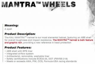 This listing is for the Kali Protectives Mantra Wheels Black