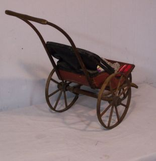 Early Antique Three Wheel Doll Buggy Stroller
