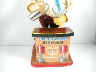 Vintage 1962 Rosko Japan Charlie Weaver Battery Operated Bartender
