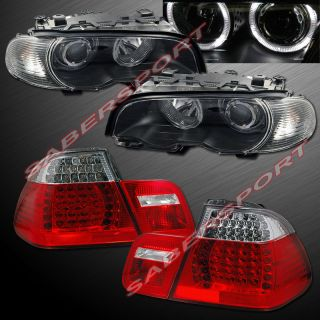 2000 2003 BMW E46 2dr Coupe Halo Projector Headlights Corner LED Tail