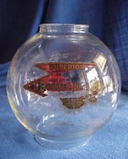 1920s Superior Confections Candy Gumball Coin Op Vending Machine Globe