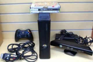 Microsoft Xbox 360 s Console 1439 with Kinect Accessories
