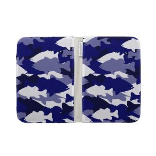 Blue Camo Bass Fishing Case For Kindle
