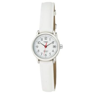 New Timex Women s T2H391 Easy Reader White Strap Nurses Watch