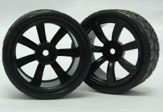 2set 1 10RC Car Tyre Tire Wheel RIM4X Black 4X Orange