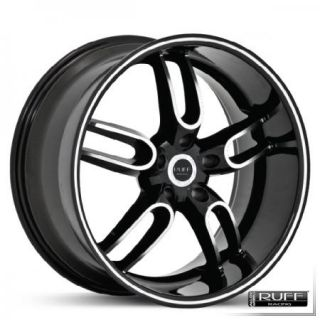 19 20 Black Wheels Rims 2005 2010 Corvette
